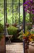 canvas print picture - Véranda, jardin, immobilier et détente zen