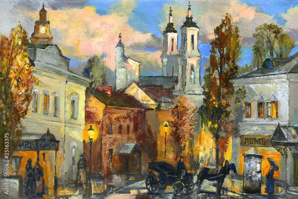 Fototapeta The old city of Vitebsk
