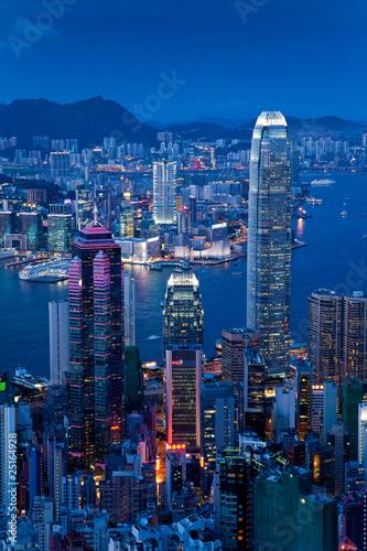 Hong-Kong Hongkong Sonnenuntergang