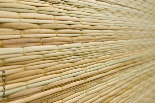 фотография Weave pattern of reed mat