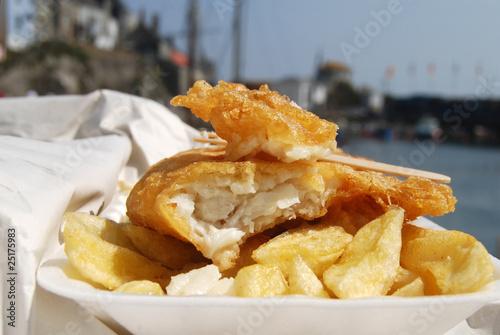Véritable Fish n' Ships sous le soleil anglais Tableau sur Toile