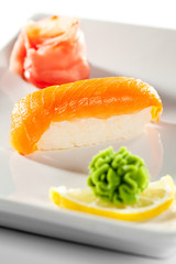 Panel SzklanySalmon Sushi
