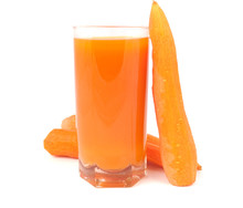 Glass Of Juice With Carrot