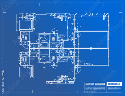 Blueprint Canvas Print