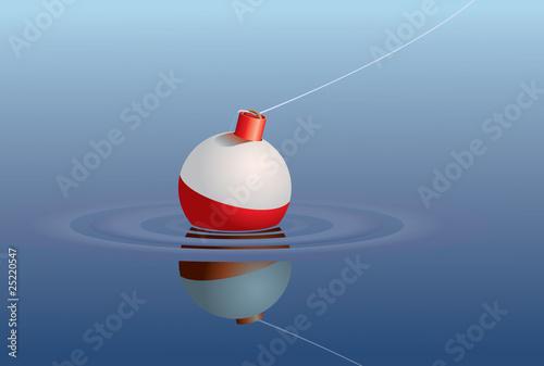 Fototapeta Bobber in water