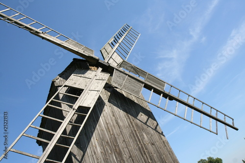 Poster Molens Old trestle type Windmill (from 1896) in close up