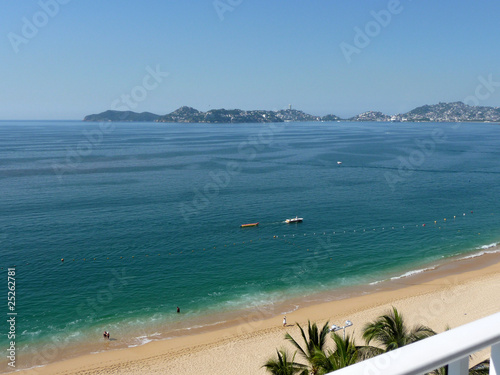 Fotografering  plage acapulco Mexique