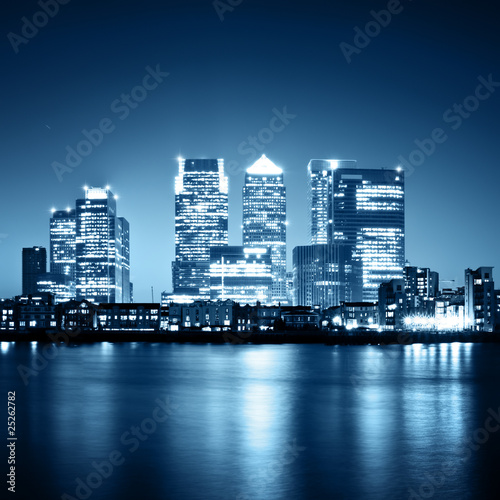 Canary Wharf view from Greenwich.