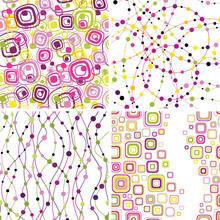 Set Of Stylish Seamless Geometical Backgrounds