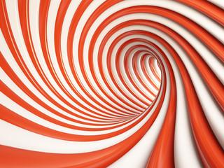Fototapeta 3D tunel abstrakcja czerwony