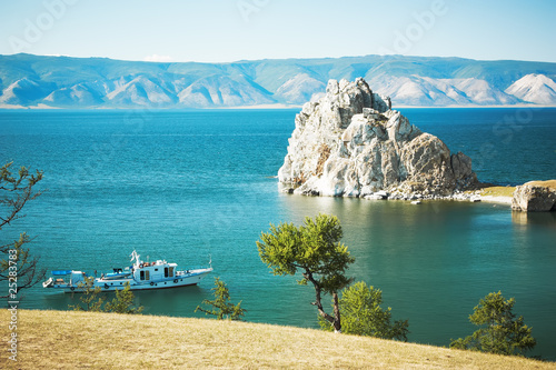 Photo Mountain Burhan lake Baikal