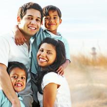 Happy Family Enjoying Summer V...