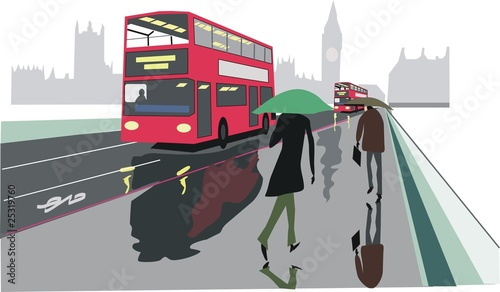 Fotografia Double decker red bus illustration