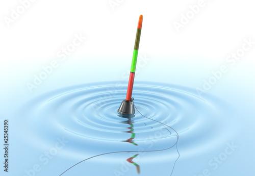 Obraz na plátně  Fishing Bobber on the water