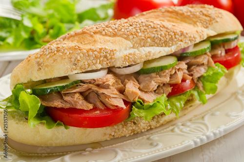 Fototapety, obrazy: sandwich with tuna & vegetables-panino al tonno