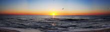 Sunrise At Sea Panorama