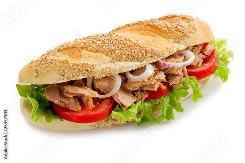 Fotobehang Snack tuna sandwich-panino al tonno