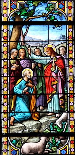 Poster Stained Vitrail, Eglise d'Arradon