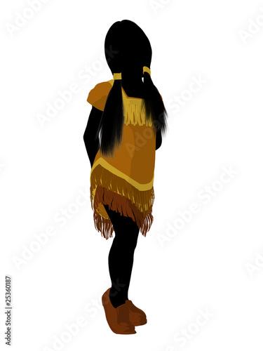 Photo  Native American Indian Art Illustration Silhouette