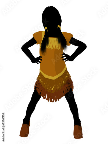 Native American Indian Art Illustration Silhouette Poster