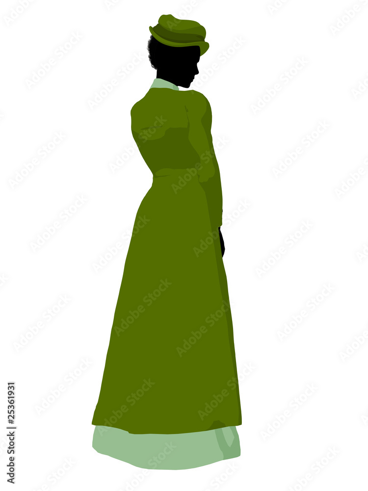 592657d54b9 Photo   Art Print African American Victorian Woman Illustration Silhouette