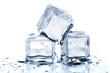 Leinwandbild Motiv Three melting ice cubes