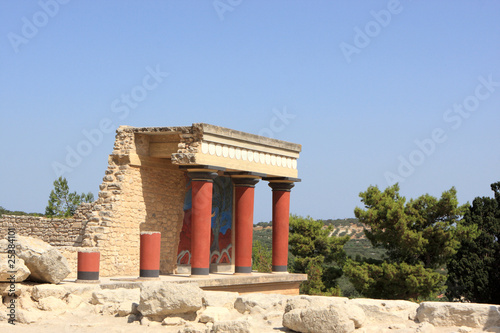 Foto op Canvas Reconstruction of the Minoan palace