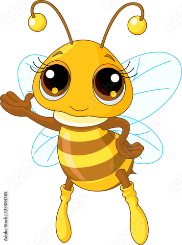 Photo  Cute Bee Showing