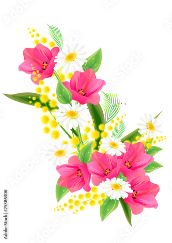 Big bunch of spring flowers with tulips and daisies buy this stock big bunch of spring flowers with tulips and daisies mightylinksfo