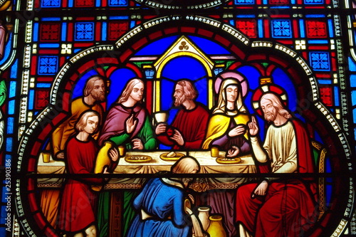 Poster Stained Last Supper stained glass window