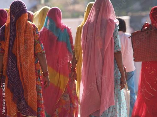 Foto op Canvas India bunte Saris