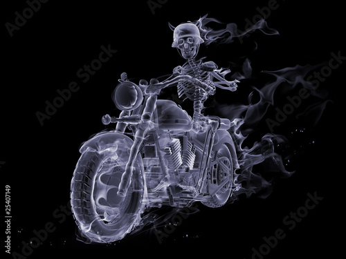 Recess Fitting Flame Ghost biker