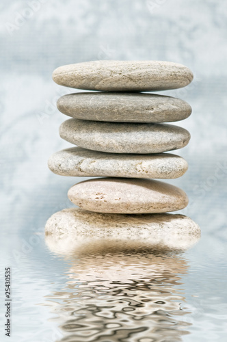 Photo Stands Stones in Sand spa