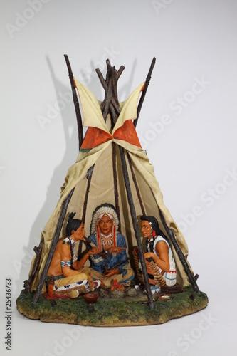Poster Indiens Indianerzelt