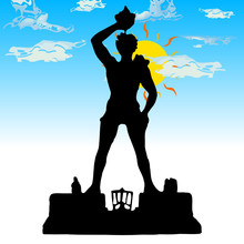 Silhouette Colossus At Rhodes