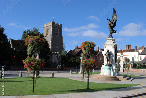 Photo  Colchester Urban landscape with Memorial and Church