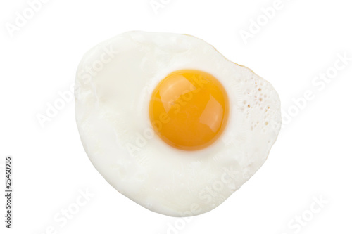 Poster Ouf fried egg isolated
