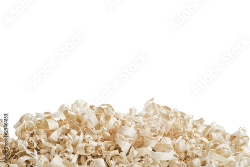 Obraz na plátně  Wood chips and sawdust texture, with copy space