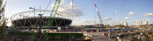 Fotografie, Obraz  Olympic Stadium Construction Site Panoramic (July 2009)