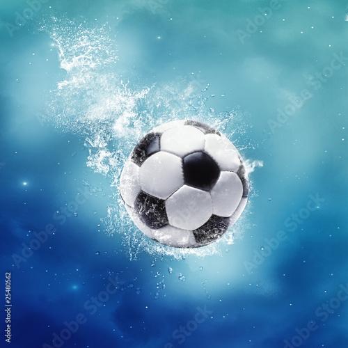 Fototapety, obrazy: Football Splash