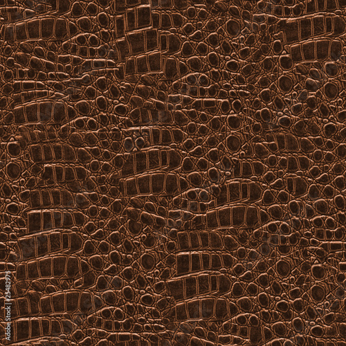Poster Crocodile Crocodile Hide Seamless Texture Tile from Photographic Original