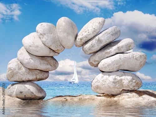 Doppelrollo mit Motiv - rocks (von MIKE RICHTER)