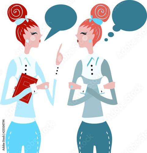 Fototapety, obrazy: business woman talking speech think bubble