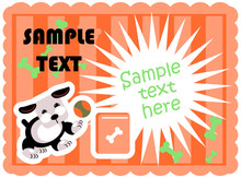 Cute Dogs Food Card Template V...