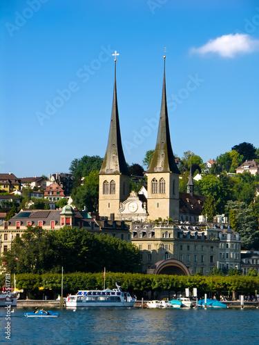 Photographie  Hofkirche à Luzern (Lucerne) en Suisse