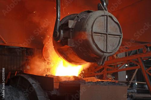 Valokuva  red-hot molten steel