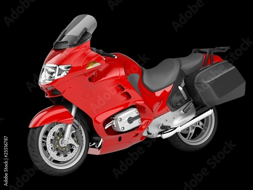Poster Motorcycle motorcycle perspective 3d