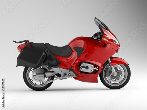Poster Motocyclette motorcycle side 3d