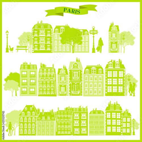 Papiers peints Vert chaux boulevard haussmann