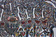 Berlin, à East Side Gallery, Art Urbain Sur Le Mur